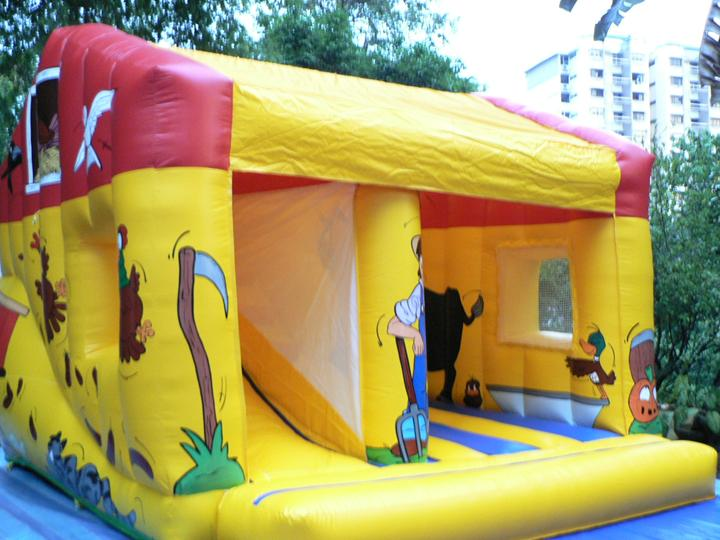 barnyard children party inflatables